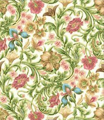 Dollhouse Miniature 1:12 Wallpaper - Floral Tapestry - Pink