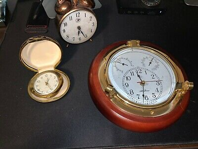 Bundle of three vintage/antique clocks Westclox Seth Thomas and Gabriel Alarm Cl