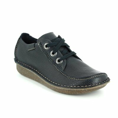 Clarks Funny Dream Navy Leather Casual Ladies Shoes UK 4.5 (EU37.5 / US7M)