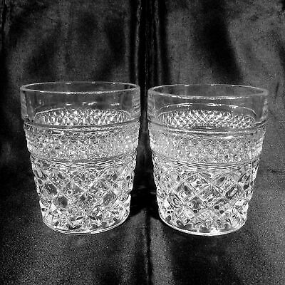 Wexford Tumbler Set of 2 Old Fashioned Rocks Clear Glass 10 oz Anchor Hocking