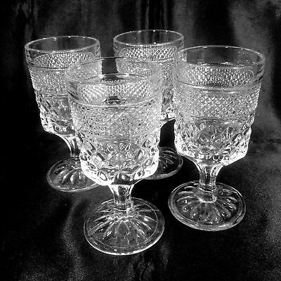 """Wexford Wine Juice Goblets Set of 4 Clear 5.5 oz 5-3/8"""" Anchor Hocking Glass"""