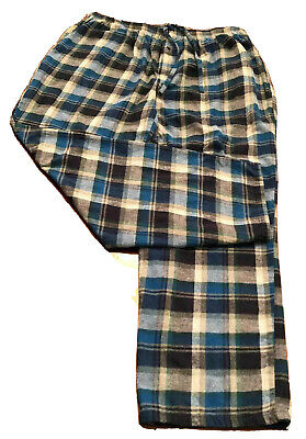 R /& Y FLANNEL PAJAMA Bottoms 2XLT 2XT 2XL TALL Plaid ROYAL BLUE /& GREY GRAY $45