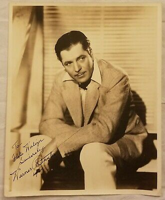 WARNER BAXTER Inscribed Autograph Signed Photograph Sepia Photo Hollywood 1939