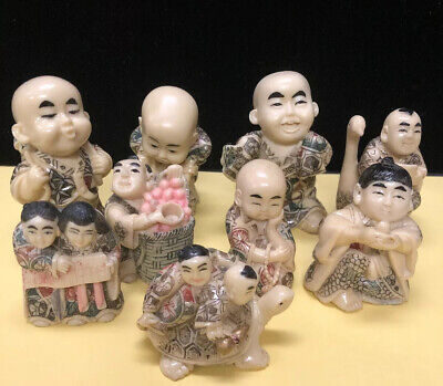 49 Oriental Figurines, Signed (B1)