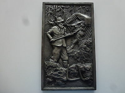Old Zinn-Relief Picture 3D Tin Picture Great Motif Hand Made Very Nice