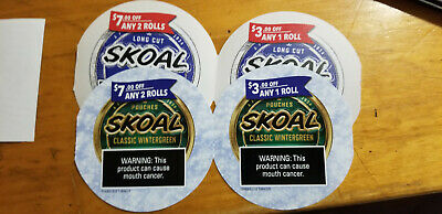 $20.00 Skoal coupons($7 off 2 rolls x 2, $3 off 1 roll x 2) exp 3/31, 5/31/2020