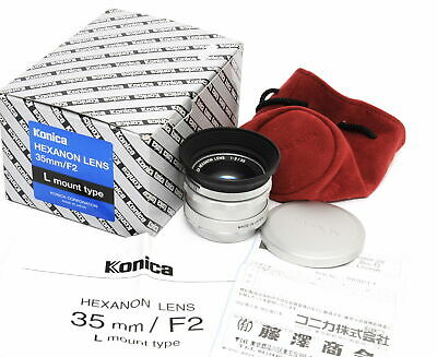 @ Konica Leica 2/35 Hexanon silver L mount  full Kit Limited No.17 MINT boxed