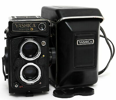 @ YASHICA MAT-124 G w. Yashinon 3.5/80mm clean glass Medium Format TLR camera