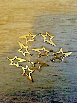 Open Gold Tone Stars for Decorative Crafts Lot of 8