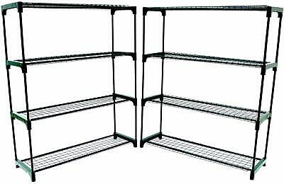 Oypla Flower Staging Display Greenhouse Racking Shelving ( Double Pack )