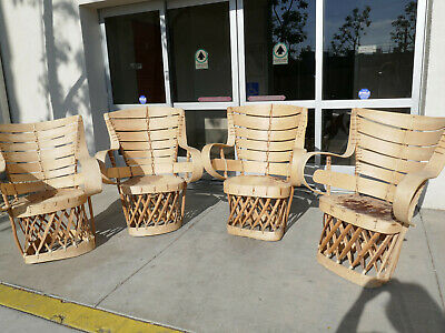 6 Vintage Mexican Equipale Chairs
