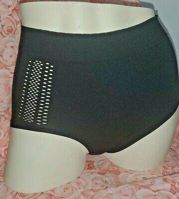 Vtg Nwt Love By Gap Panties Seamless High Rise Black Small Cut Out Sides Hot