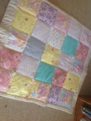 Cot Quilt. Approx 110 X 100 Delightful
