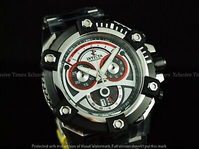 Invicta Men 63mm JoKER Grand Arsenal Swiss Chronograph Black TT SS Watch