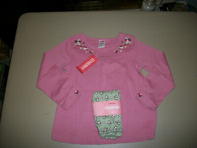 NWT Gymboree~~Girl Detective~~Pink Swing Top & Green Floral Leggings~~Size 5
