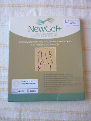 NewGel SILICONE GEL SHEETING FOR SCAR MANAGEMENT – NG120 BEIGE AREOLA (PAIR)