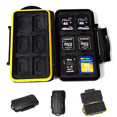 Black rubber Memory Card Storage Case Box Holders For Micro SD Card 8 Slots Top