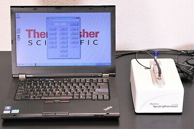 Thermo NanoDrop ND-1000 UV/VIS Spectrophotometer +Laptop/Software/Warranty