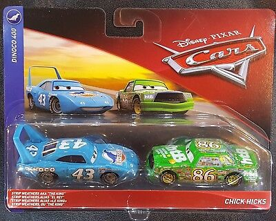 CARS - KING & CHICK HICKS - Mattel Disney Pixar