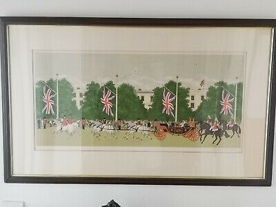 Vincent HADDELSEY Limited Edition Print Wedding Parade For Prince Charles And...