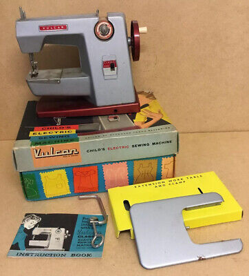 Old Vintage Childs Sewing Machine Vulcan Classic Original Box Instructions Etc