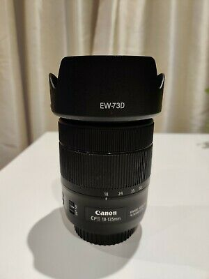 Canon EF-S 18-135mm IS NANO USM Lens with hood and Zomei UV filter