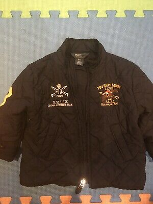 Polo Ralph Lauren Boys Navy Blue Quilted Zip Up Jacket Age 2 Years