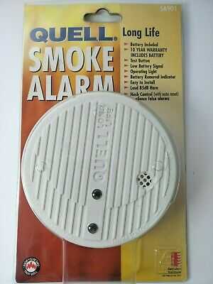 Quell Smoke Alarm Long Life Battery Operated | Free Post