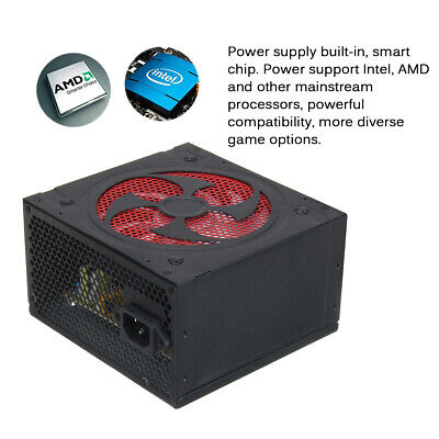 800W Power ATX12V PFC Gaming PC Power Supply 8PIN+2x6PIN Silent Fan AU 220V