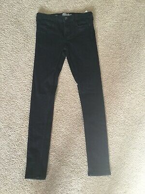 Mens / Boys  Topman Black Super Spray On Skinny Jeans Size 28S