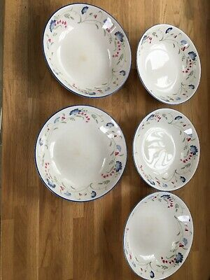 5 x Royal Doulton Expressions Windermere Cereal / Pasta Bowls