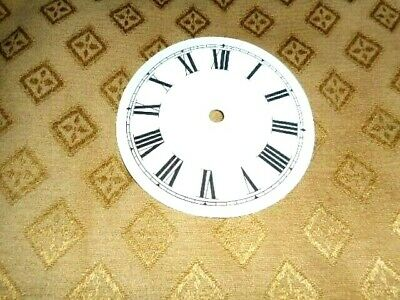 "Round Paper (Card) Clock Dial - 3"" M/T - Roman - WHITE MATT- Clock Parts/Spares"