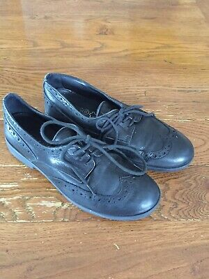 Girls Geox Black Leather Lace Ups Size 1