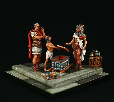 Tin soldier, Museum (TOP), Vignette Caesar and Cleopatra, 54 mm, Ancient Egypt