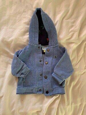 Boys Blue Ted Baker Hoody Age 3-6 Months