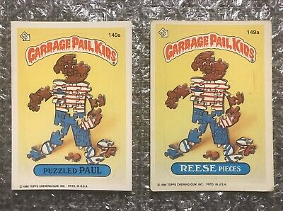 1986 Topps Garbage Pail Kids Original Series Lot: Puzzled Paul & Reese Pieces