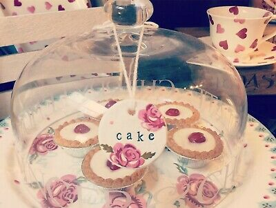 Emma Bridgewater Themed Handmade Clay Tags - Scattered Rose - CAKE
