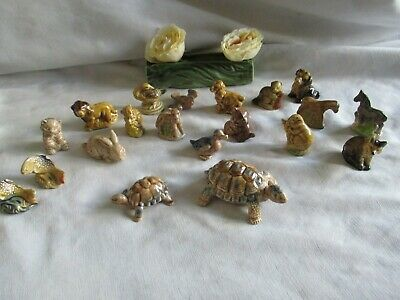Wade Whimsies Job lot of 18 Goose Red Rabbit Beaver Donkey Spaniel Kitten Etc