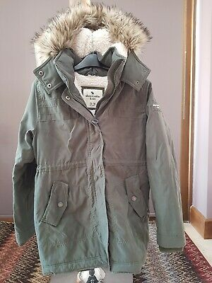 Girls abercrombie and fitch coat age 13/14 exc