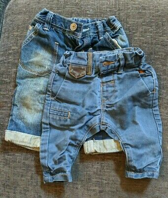 Two Pairs Next Baby Boys Jeans 3-6 Months