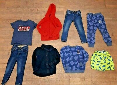 8 x Job lot bundle clearance boys age 4 - 5 years jeans shorts t shirts hoodie