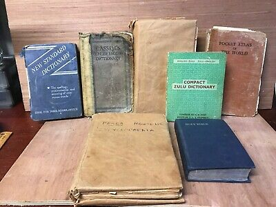 Vintage The HOLY BIBLE, Dictionary Etc, Job Lot Old Books
