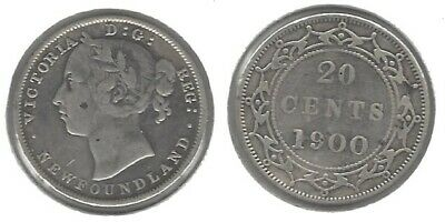 Newfoundland 1900 .925 Silver 20 Cent Coin... Take A Look !!