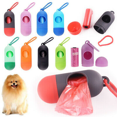 Poop Bag Dispenser Garbage Pet Dog Waste Pick Up Case+Poop Bags Holder Poo