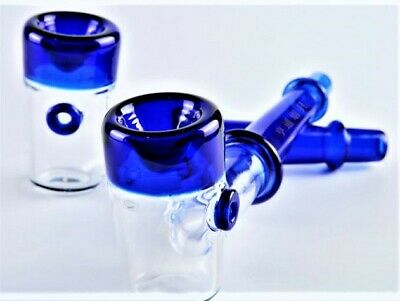 "New 5"" Blue Water Bubbler Pipe Hookah Bong Tobacco Smoking Small Glass Herb Bowl"
