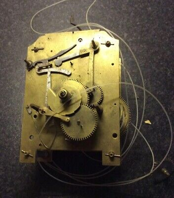 Untested Grandfather Clock Movement For Spare Parts Or Restoration