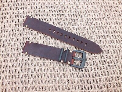 Genuine Leather Military Watch Strap 20mm Coffee Brown by Zuludiver
