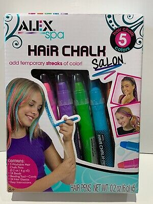 Hair Chalk Salon Washable Assorted Children/'s Arts /& Crafts by Alex 738W