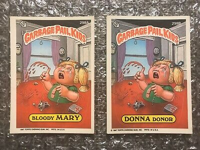 1987 Topps Garbage Pail Kids Original Series Lot: Bloody Mary & Donna Donor