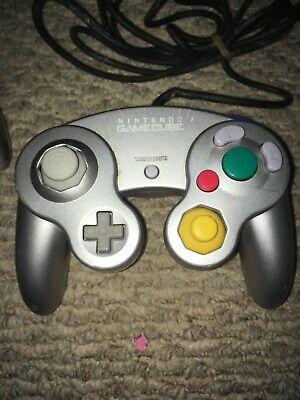 Official OEM Nintendo Gamecube Controller DOL-003 Silver Wii Tested Works!!